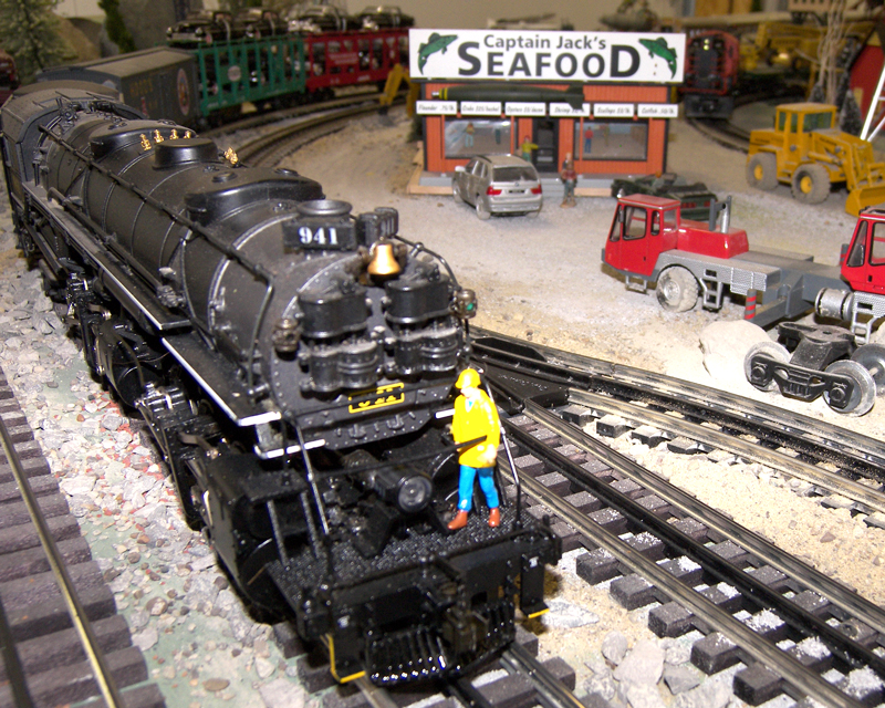 Scale model railroad layout for sale full set with all scenery