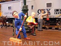 G SCALE LAYOUT FIGURES RAILROAD PASSENGERS AND RAILROAD SERVICE PEOPLE