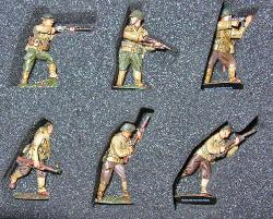 MARCH FORWARD SERIES WWII US INFANTRY SET 1944 CORGI US59003 1:50 Scale Hand Painted Metal Figure