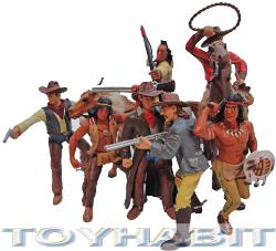 G SCALE LAYOUT FIGURES -COWBOYS, INDIANS AND HORSES
