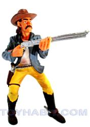 G Scale Railroad Figure-BANDIT WITH MUSTACHE IN YELLOW PANTS WITH A RIFLE