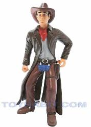 G SCALE LAYOUT  FIGURE- COWBOY WITH A LONG COAT AND GUNS