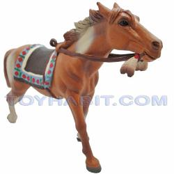 G Scale Railroad Figure-GALLOPING HORSE SADDLED IN AMERICAN INDIAN STYLE