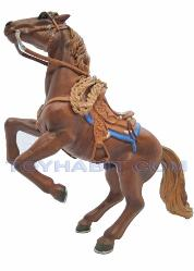 G Scale Railroad Figure-HORSE STANDING ON HIND LEGS SADDLED WESTERN STYLE