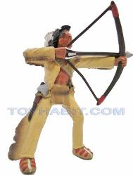 G SCALE LAYOUT FIGURE-AMERICAN INDIAN IN YELLOW CLOTHING WITH A BOW AND ARROW