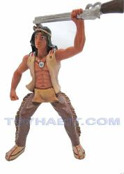 G SCALE RAILROAD LAYOUT FIGURE- AMERICAN INDIAN WITH A RIFFLE